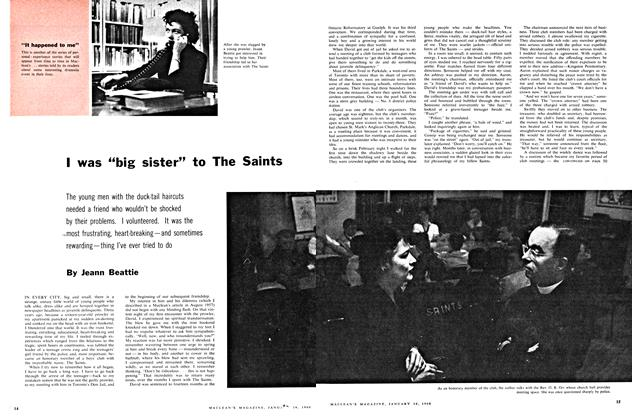 "Article Preview: I was ""big sister"" to The Saints, January 1960 