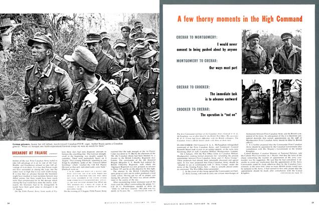Article Preview: A few thorny moments in the High Command, January 1960 | Maclean's