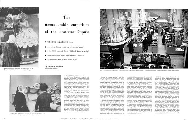 Article Preview: The incomparable emporium of the brothers Dupuis, February 1960 | Maclean's