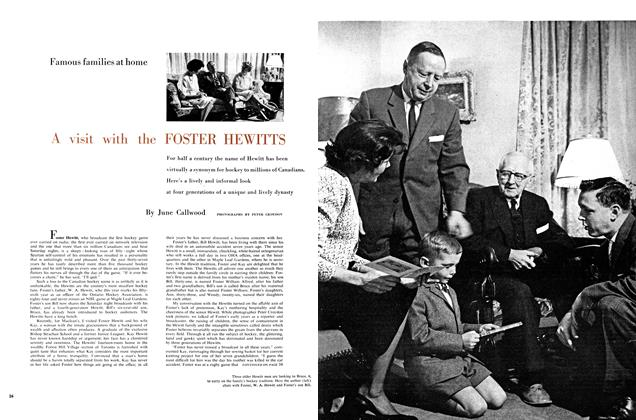 Article Preview: A visit with the FOSTER HEWITTS, February 1960 | Maclean's