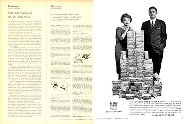 Article Preview: Editorial, February 1960 | Maclean's