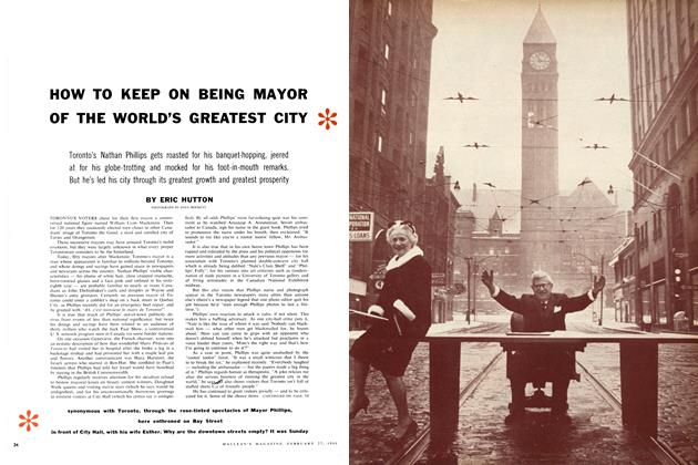 Article Preview: HOW TO KEEP ON BEING MAYOR OF THE WORLD'S GREATEST CITY, February 1960 | Maclean's