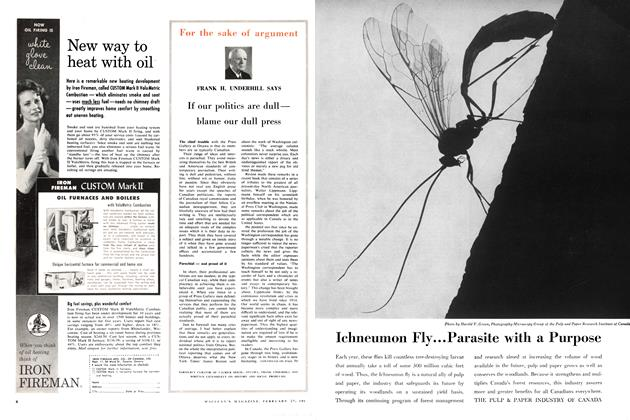 Article Preview: For the sake of argument, February 1960   Maclean's