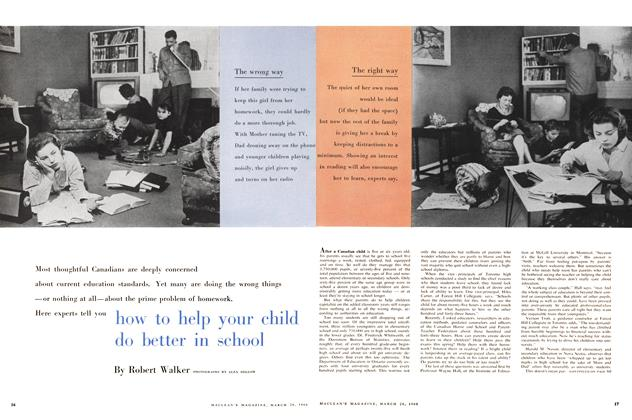 Article Preview: Here experts tell you how to help your child do better in school, March 1960 | Maclean's