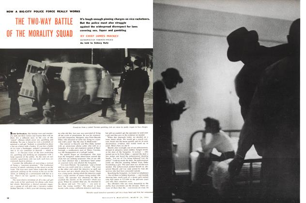 Article Preview: THE TWO-WAY BATTLE OF THE MORALITY SQUAD, March 1960 | Maclean's