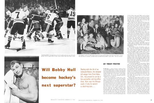 Article Preview: Will Bobby Hull become hockey's next superstar?, March 1960 | Maclean's