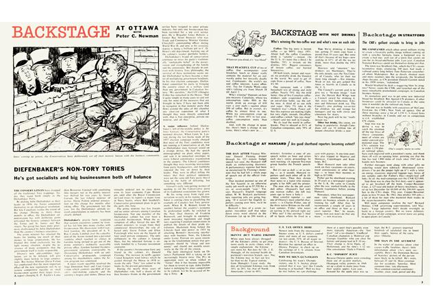Article Preview: DIEFENBAKER'S NON-TORY TORIES, March 1960   Maclean's