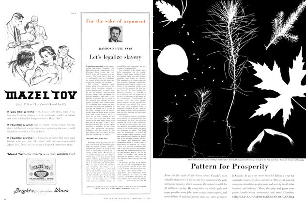 Article Preview: Let's legalize slavery, March 1960 | Maclean's
