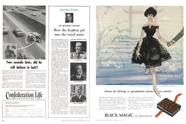 Article Preview: How the hyphen got into the royal name, March 1960 | Maclean's