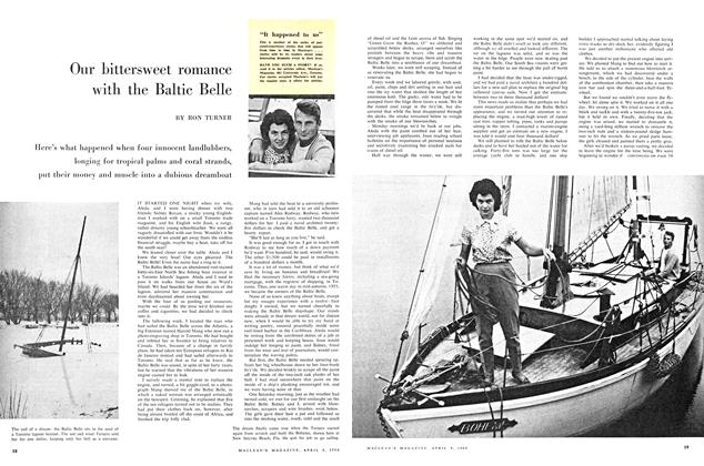 Article Preview: Our bittersweet romance with the Baltic Belle, April 1960 | Maclean's