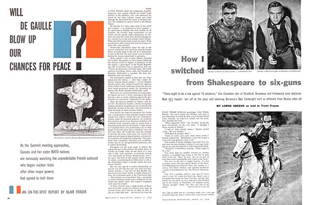 Article Preview: How I switched from Shakespeare to six-guns, April 1960 | Maclean's