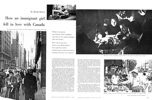 Article Preview: How an immigrant girl fell in love with Canada, April 1960 | Maclean's