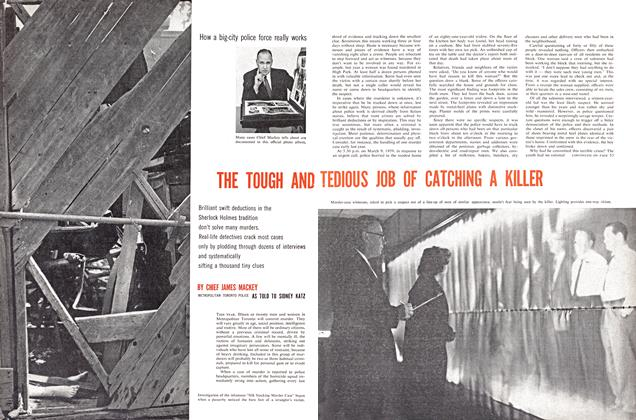 Article Preview: THE TOUGH AND TEDIOUS JOB OF CATCHING A KILLER, April 1960 | Maclean's