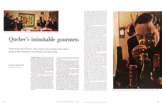 Article Preview: Quebec's inimitable gourmets, May 1960 | Maclean's