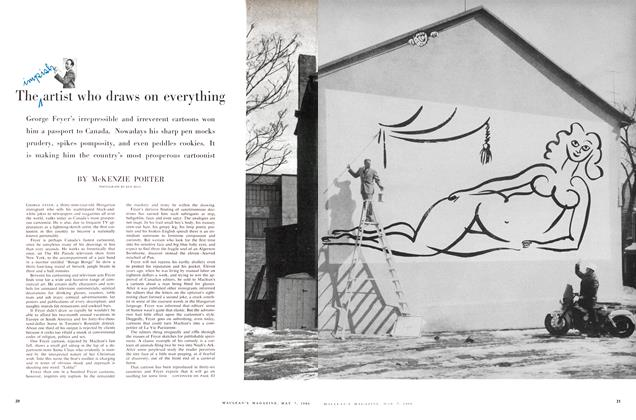 Article Preview: The impish artist who draws on everything, May 1960 | Maclean's