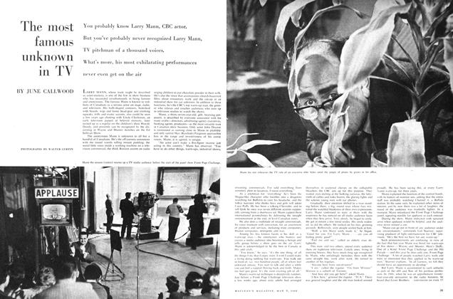 Article Preview: The most famous unknown in TV, May 1960 | Maclean's