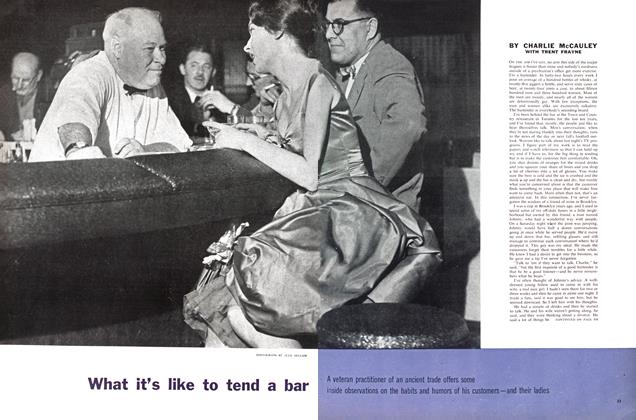 Article Preview: What it's like to tend a bar, May 1960 | Maclean's