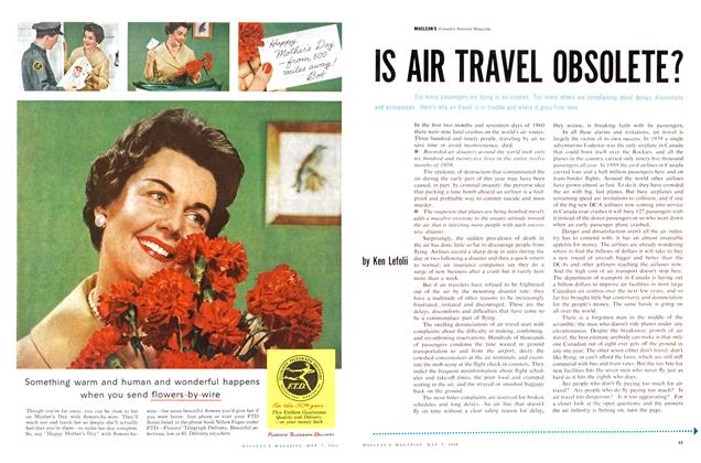 Article Preview: IS AIR TRAVEL OBSOLETE?, May 1960 | Maclean's