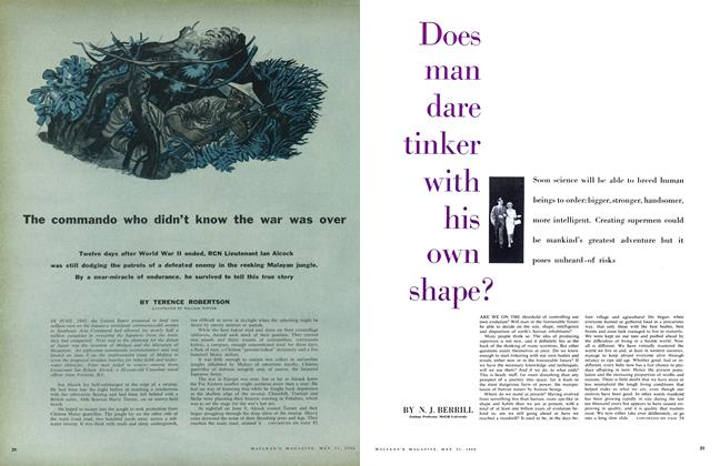 Article Preview: Does man dare tinker with his own shape?, May 1960 | Maclean's