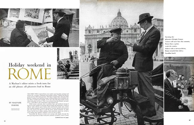 Article Preview: Holiday weekend in ROME, May 1960 | Maclean's