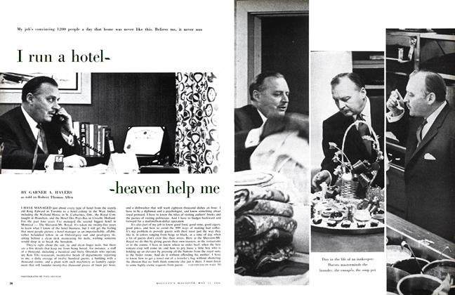 Article Preview: I run a hotel-heaven help me, May 1960 | Maclean's