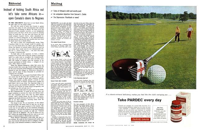 Article Preview: Mailbag, May 1960 | Maclean's