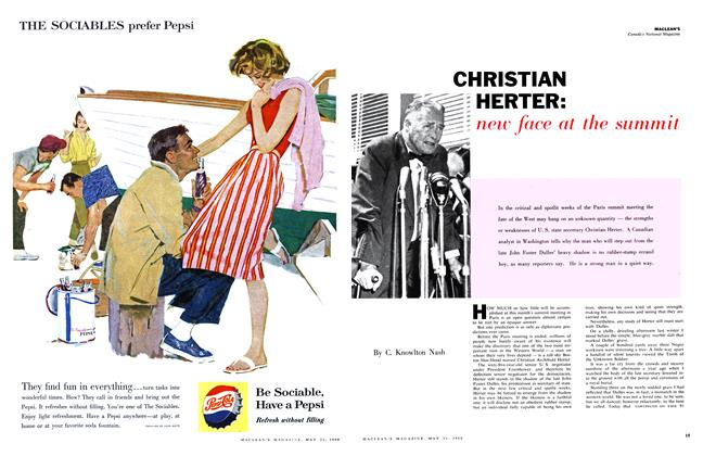 Article Preview: CHRISTIAN HERTER: new face at the summit, May 1960 | Maclean's