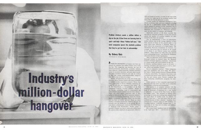Article Preview: Industry's million-dollar hangover, June 1960 | Maclean's