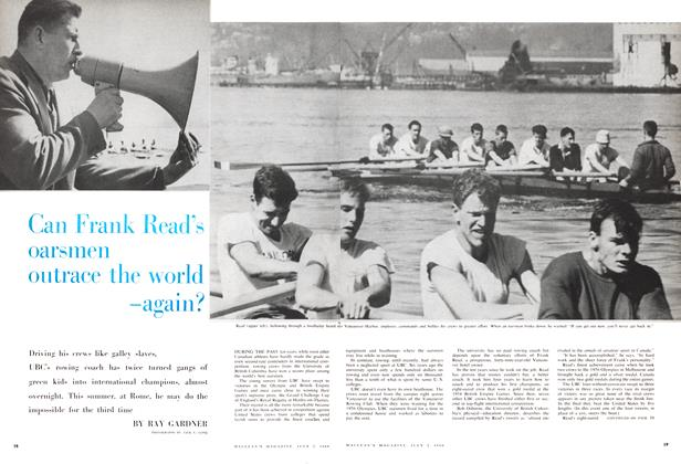 Article Preview: Can Frank Read's oarsmen on trace the world -again?, July 1960 | Maclean's
