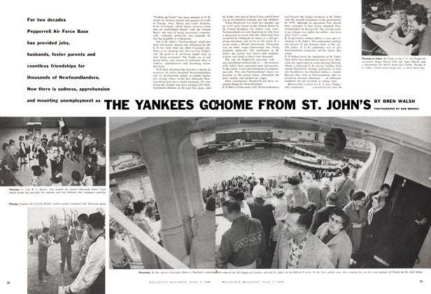 Article Preview: THE YANKEES GO HOME FROM ST. JOHN'S, July 1960 | Maclean's