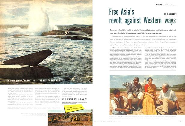 Article Preview: Free Asia's revolt against Western ways, July 1960 | Maclean's