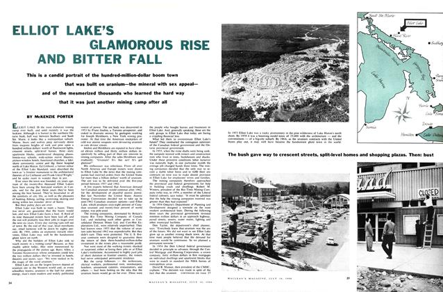 Article Preview: ELLIOT LAKE'S GLAMOROUS RISE AND BITTER FALL, July 1960 | Maclean's