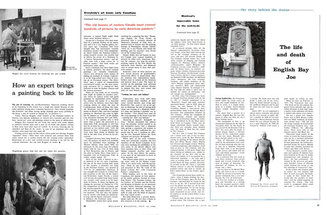Article Preview: The life and death of English Bay Joe, July 1960 | Maclean's