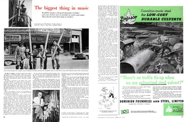 Article Preview: The biggest thing in music, July 1960 | Maclean's