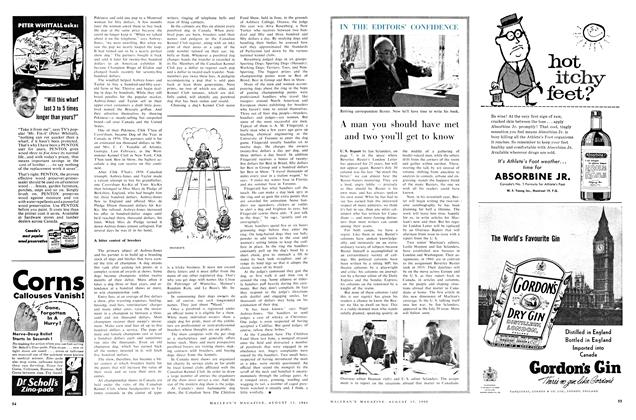 Article Preview: A man you should have met and two you'll get to know, August 1960 | Maclean's