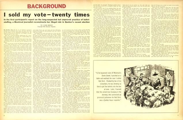 Article Preview: I sold my vote—twenty times, August 1960   Maclean's