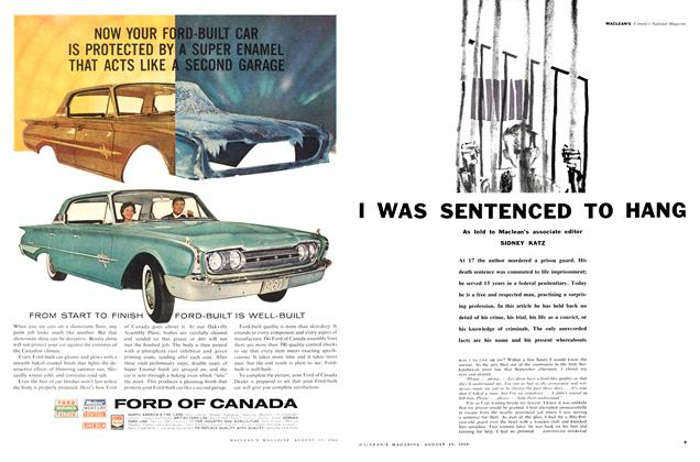 Article Preview: I WAS SENTENCED TO HANG, August 1960 | Maclean's