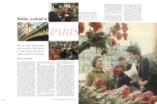 Article Preview: Holiday weekend in PARIS, August 1960 | Maclean's