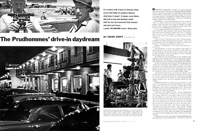 Article Preview: The Prudhommes' drive-in daydream, August 1960 | Maclean's