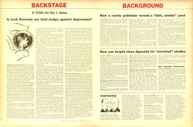 Article Preview: Is Jack Kennedy our best hedge against depression?, August 1960 | Maclean's