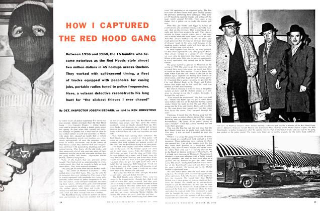 Article Preview: HOW I CAPTURED THE RED HOOD GANG, August 1960 | Maclean's