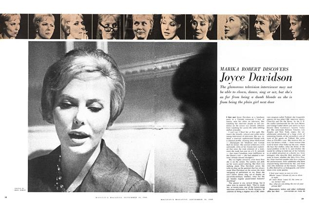 Article Preview: Joyce Davidson, September 1960 | Maclean's