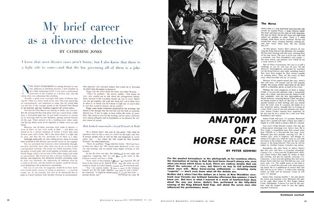 Article Preview: ANATOMY OF A HORSE RACE, September 1960 | Maclean's