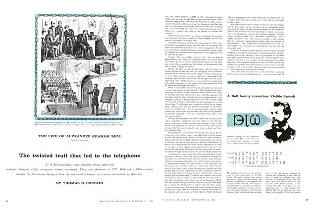 Article Preview: The twisted trail that led to the telephone, September 1960 | Maclean's