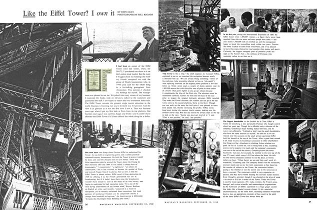 Article Preview: Like the Eiffel Tower? I it, September 1960 | Maclean's