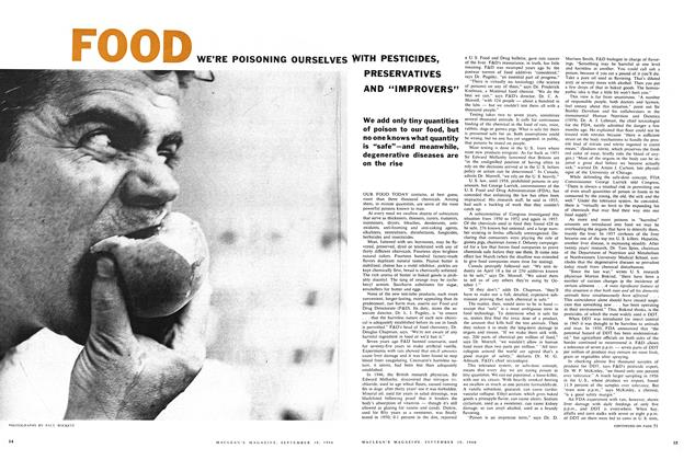 """Article Preview: WE'RE POISONING OURSELVES WITH PESTICIDES, PRESERVATIVES AND """"IMPROVERS"""", September 1960 