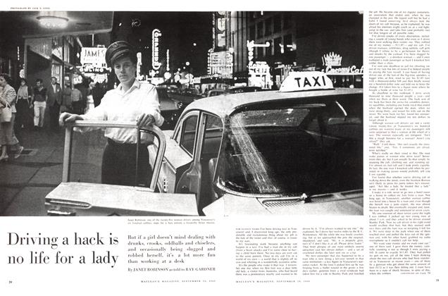 Article Preview: Driving a hack is no life for a lady, September 1960 | Maclean's