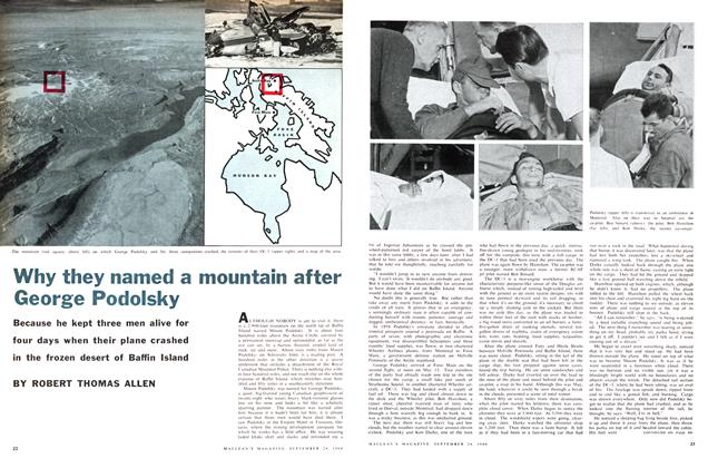 Article Preview: Why they named a mountain after George Podolsky, September 1960 | Maclean's