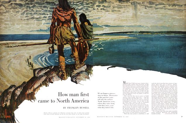 Article Preview: How man first came to North America, September 1960 | Maclean's