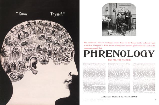 Article Preview: PHRENOLOGY, September 1960 | Maclean's